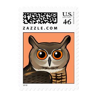 Eurasian Eagle-Owl Postage