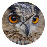 Eurasian Eagle-owl Round Clock