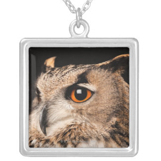 Eurasian Eagle Owl Silver Plated Necklace