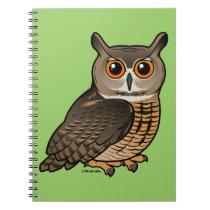 Eurasian Eagle-Owl Spiral Notebook