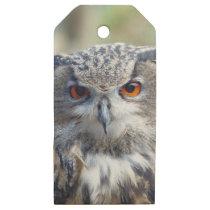 Eurasian Eagle-Owl, Uhu 02.2.o Wooden Gift Tags