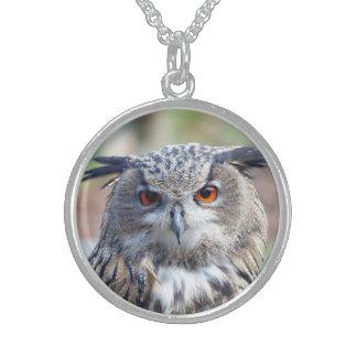Eurasian Eagle-Owl, Uhu 2 Sterling Silver Necklace