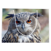 Eurasian Eagle-Owl, Uhu Large Gift Bag