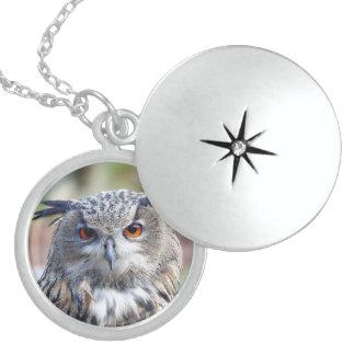 Eurasian Eagle-Owl, Uhu Locket Necklace