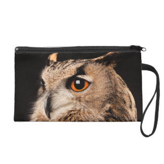 Eurasian Eagle Owl Wristlet Clutch