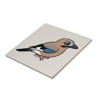 Eurasian Jay Ceramic Tile