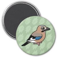 Eurasian Jay Round Magnet