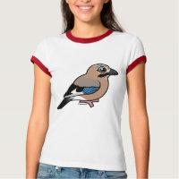Eurasian Jay Ladies Ringer T-Shirt
