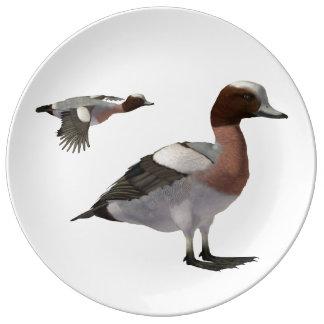 Eurasian Wigeon Plate Porcelain Plate