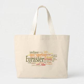 Eurasier Large Tote Bag