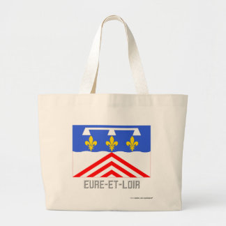 Eure-et-Loir flag with name Tote Bag