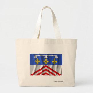 Eure-et-Loir waving flag Tote Bag