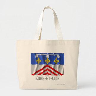 Eure-et-Loir waving flag with name Canvas Bags
