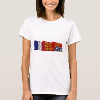 Eure, Haute-Normandie & France flags T-Shirt