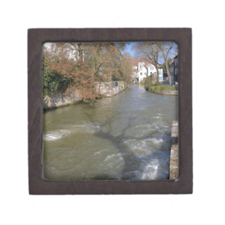 Eure river at Chartres in France Jewelry Box