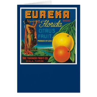 Eureka Brand Florida Citrus Fruit Cards