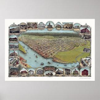 Eureka, CA Panoramic Map - 1902 Posters