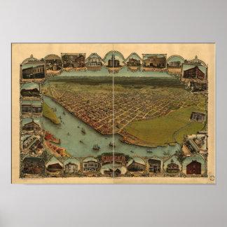 Eureka California 1902 Panoramic Map Posters