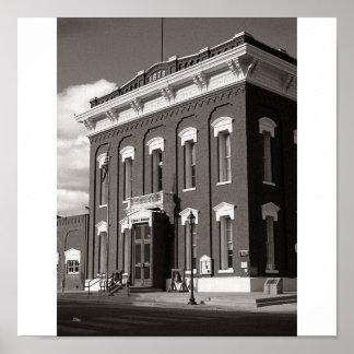 Eureka Courthouse, Eureka, Nevada Poster