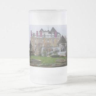 Eureka Crescent Frosted Glass Beer Mug