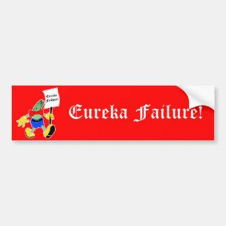 Eureka Failure - Mr Eel Head Bumper Sticker