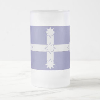Eureka Flag Frosted Glass Beer Mug
