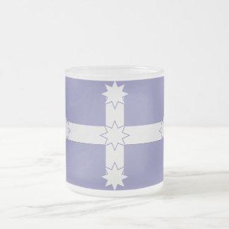Eureka Flag Frosted Glass Coffee Mug