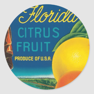 Eureka Florida Citrus Fruit Classic Round Sticker