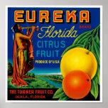 Eureka Florida Citrus Poster