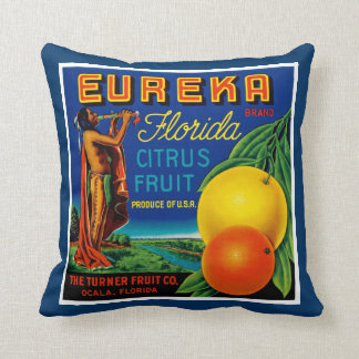 Eureka Florida Citrus Throw Pillow