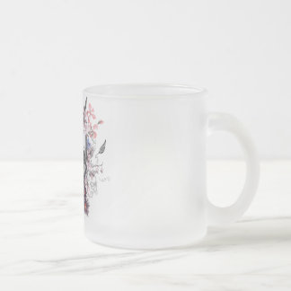 "Eureka ""No bread, No profit "" Frosted Glass Coffee Mug"