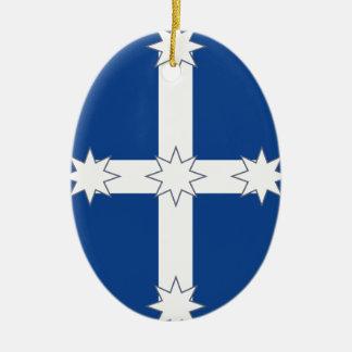Eureka Double-Sided Oval Ceramic Christmas Ornament