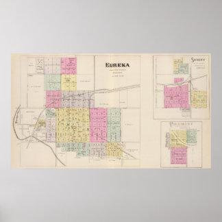 Eureka, Severy, and Piedmont, Kansas Poster