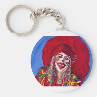 Eureka Springs Clown Basic Round Button Keychain