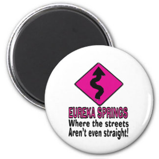 Eureka Springs streets 2 Inch Round Magnet