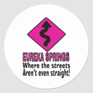 Eureka Springs streets Classic Round Sticker