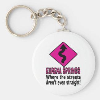 Eureka Springs streets Keychain