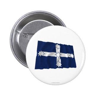 Eureka Stockade Waving Flag Button