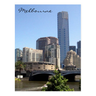eureka tower melbourne postcard