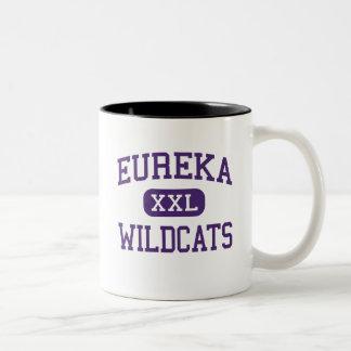 Eureka - Wildcats - High School - Eureka Missouri Two-Tone Coffee Mug