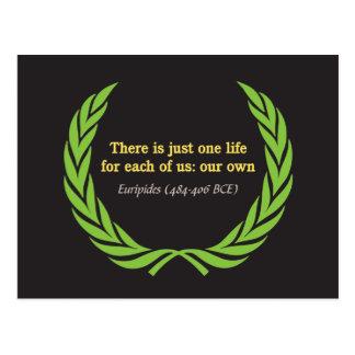 Euripides Just One Life Postcard