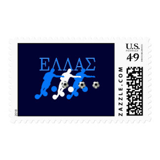 Euro 2012 - European Cup Greek fans flag ball Stamps