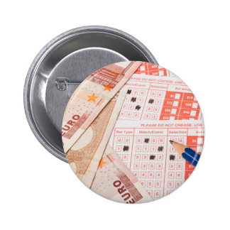 Euro and sports betting slip pinback buttons