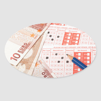 Euro and sports betting slip oval sticker