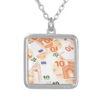 Euro background silver plated necklace