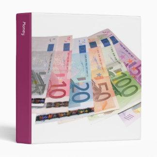 Euro bank notes binder