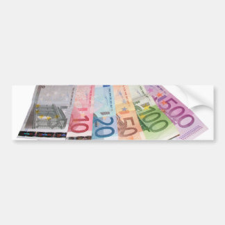 Euro bank notes bumper sticker