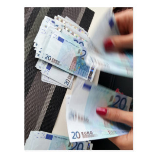 Euro bank notes currency | postcard