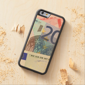 Euro Bills Background Carved Maple iPhone 6 Bumper Case