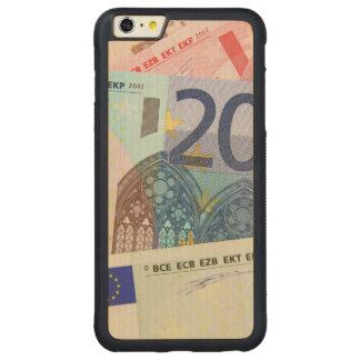 Euro Bills Background Carved Maple iPhone 6 Plus Bumper Case